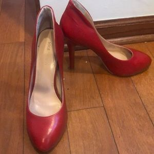 Sole Society red high heels.